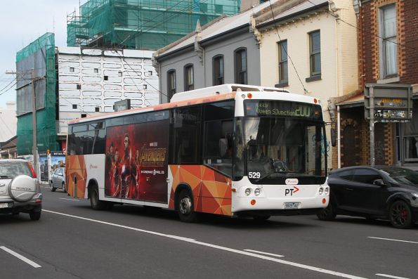 Transdev bus #529 5825AO heads west on route 200 at Johnson and Brunswick Street
