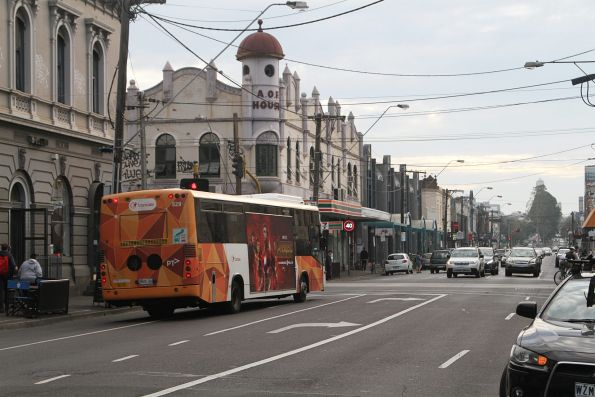 Transdev bus #529 5825AO heads west on route 200 at Johnston and Brunswick Street
