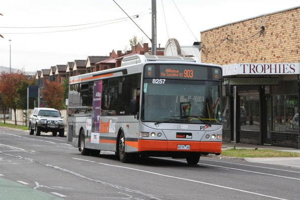 Transdev bus #8257 6676AO on route 903 on Hampshire Road, Sunshine
