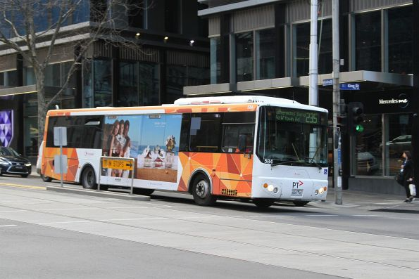 Transdev bus #584 6661AO on route 235 at Collins and King Street