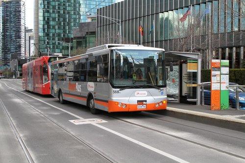 Smartbus liveried Transdev bus #566 6334AO on route 219 on Queensbridge Street