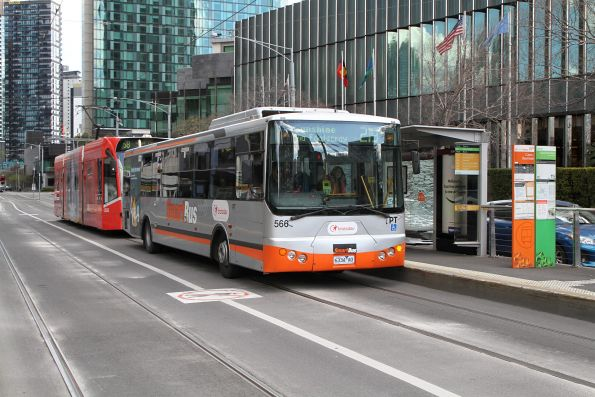 Smartbus liveried Transdev bus #566 6334AO on route 219 on Queensbridge Street