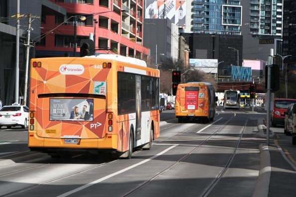 Transdev bus #440 9040AO on route 220 at Queens Bridge