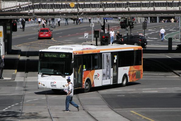 Transdev bus #584 6661AO on route 234 at Flinders and Market Street