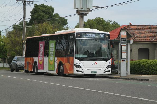 Transdev bus #163 BS03LV on route 903 on Hampshire Road, Sunshine