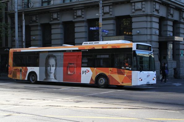 Transdev bus #716 1716AO heads west on route 237 at Collins and Spencer Street