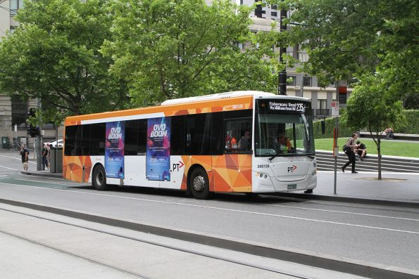 Transdev bus #128 BS02LS on route 235 at Southern Cross Station
