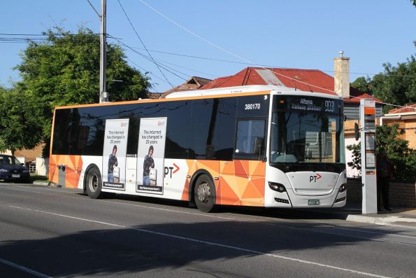 Transdev bus #172 BS03WE on route 903 along Hampshire Road, Sunshine