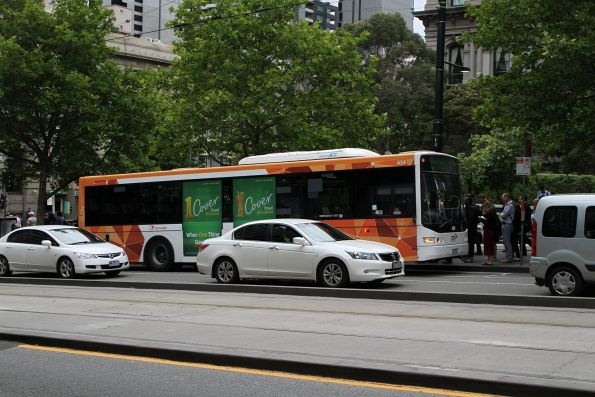 Transdev bus #434 on route 232 outside Southern Cross Station