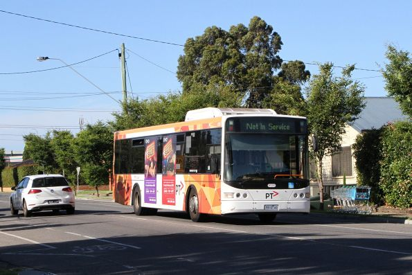 Transdev bus #410 5910AO out of service on Hampshire Road, Sunshine