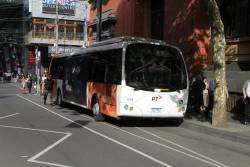 Transdev bus #604 7227AO between runs at Bourke and Spencer Street