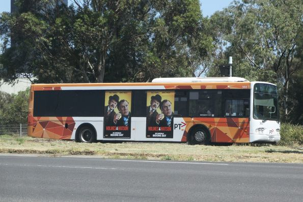 Transdev bus #365 0365AO on route 220 on Footscray Road at CityLink