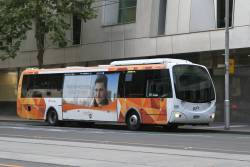 Transdev bus #591 6855AO between runs at William and Lonsdale Street