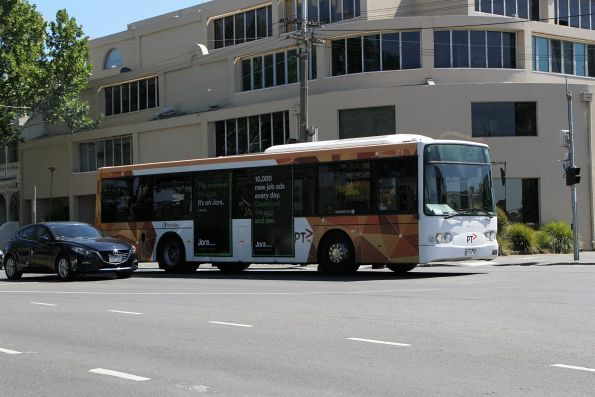Transdev bus #373 0373AO on route 250 at Rathdowne and Grattan Street