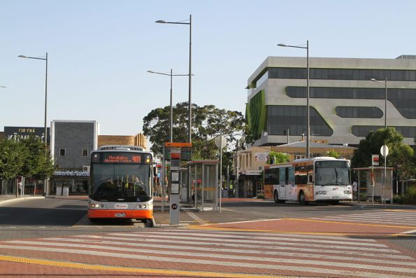 Transdev buses at Sunshine station: #8386 7682AO on route 903 alongside #358 0358AO on route 220