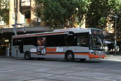 Transdev bus #960 8045AO heads east at Collins and Swanston Street