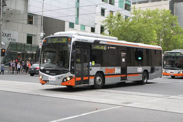 Transdev bus #683 7973AO on route 905 at Lonsdale and William Street