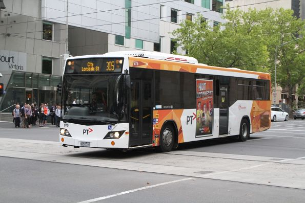 Transdev bus #975 8257AO on route 305 at Lonsdale and William Street