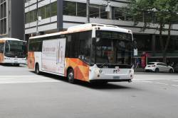 Transdev bus #553 5940AO on route 236 at Queen and Bourke Street