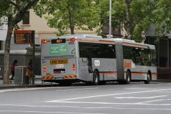 Transdev articulated bus #2001 8034AO on route 907 at Lonsdale and William Street