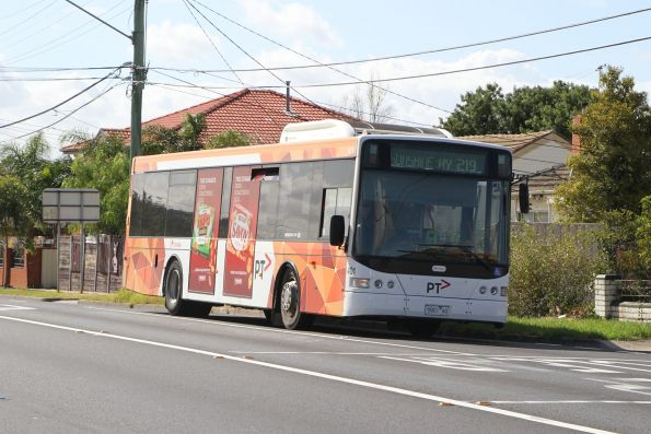 Transdev Melbourne bus #401 5901AO on route 219 along Wright Street, Sunshine