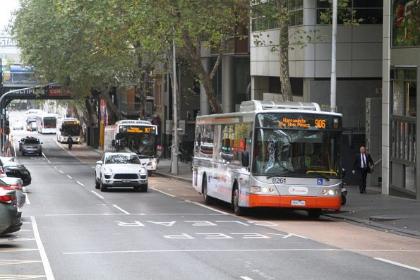 Transdev bus #8261 6547AO on route 906 at Lonsdale and William Street