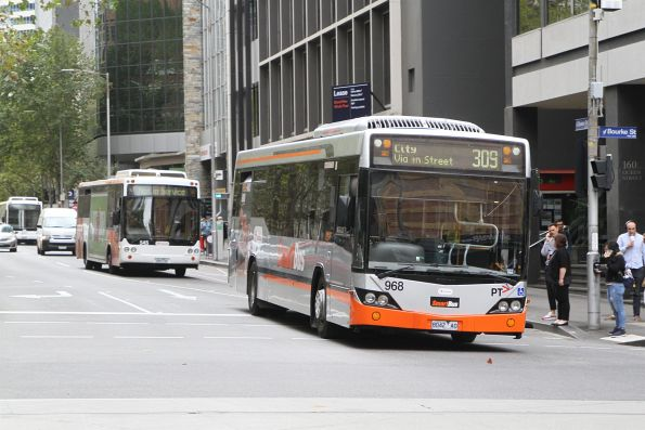 Smartbus liveried Transdev bus #968 8042AO on route 309 at Queen and Bourke Street