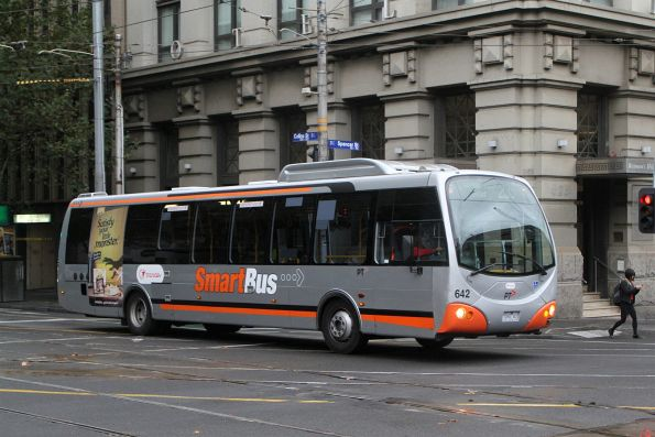 Transdev bus #642 7265AO on route 235 outside Southern Cross Station