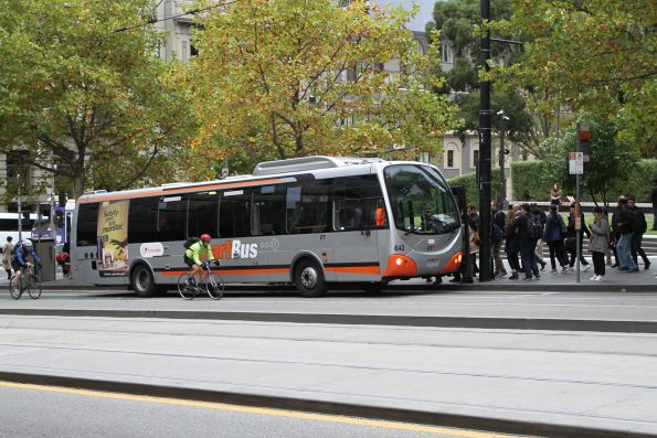 Smartbus liveried Transdev bus #642 7265AO on route 237 at Southern Cross Station