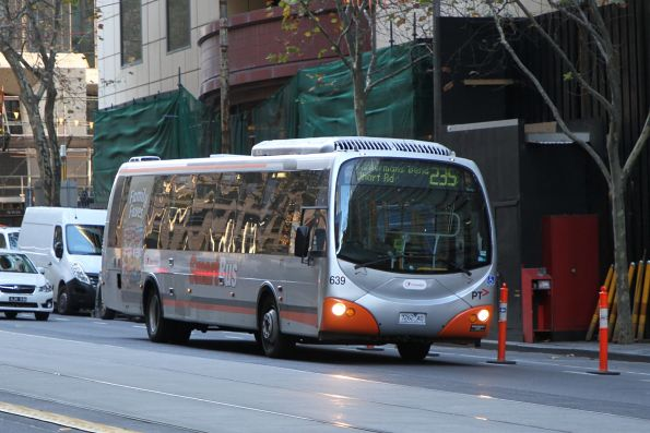 Transdev bus #639 7262AO on route 235 at Collins and William Street