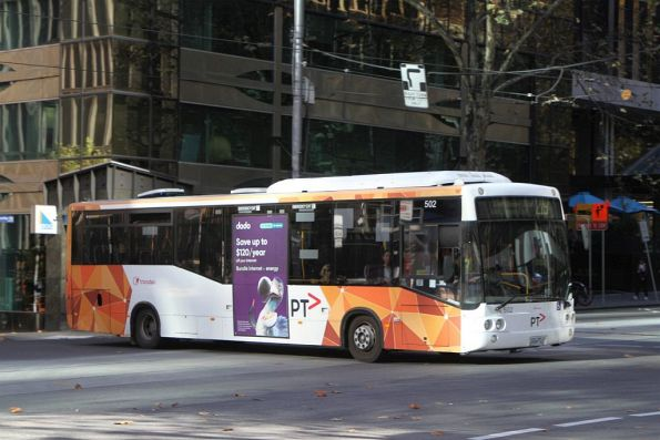 Transdev bus #502 on route 219 at Queen and Bourke Street