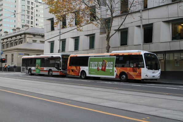 Transdev buses #603 7226AO and #683 lay over on William Street