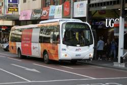 Transdev bus #599 6863AO on route 250 at Lonsdale and Swanston Street