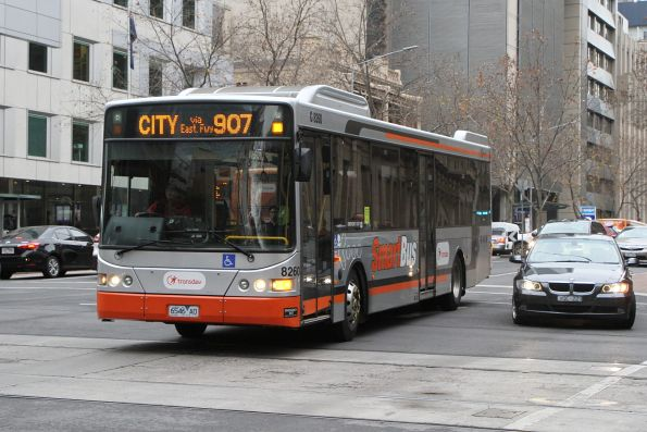 Transdev bus #8260 6546AO on route 907 at Lonsdale and William Street