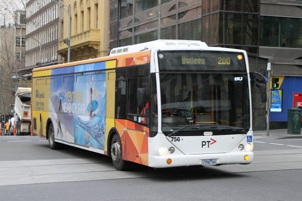 Transdev bus #756 1756AO on route 200 at Queen and Bourke Street