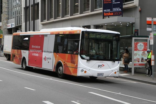 Transdev bus #586 6850AO at Queen and Bourke Street