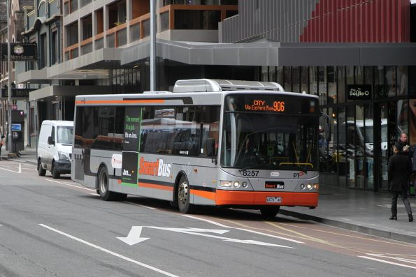 Transdev bus #8257 6679AO terminates at Lonsdale and Spencer Street on route 906