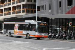 Transdev bus #8261 6547AO on route 907 terminates at Lonsdale and Spencer Street