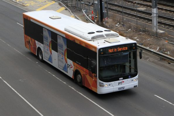 Transdev bus #994 9100AO out of service on Wurundjeri Way