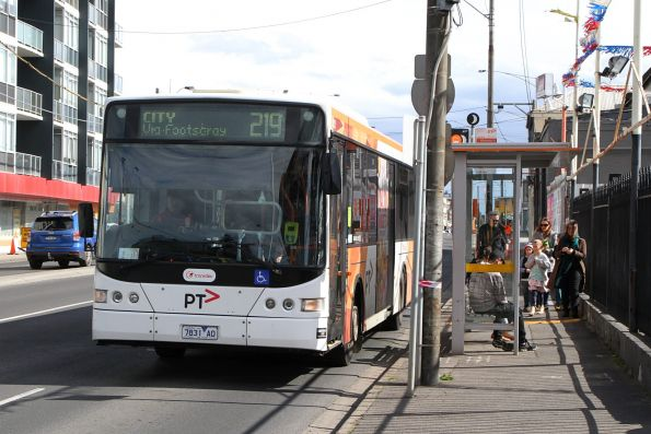 Transdev bus #431 7831AO on route 219 on Hopkins Street, Footscray