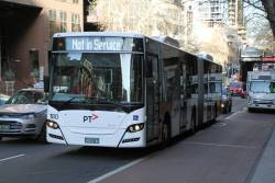 Transdev articulated bus #180 BS03WV out of service at Lonsdale and William Street