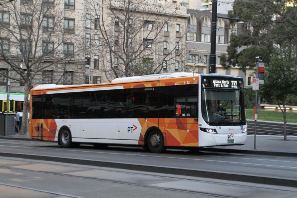 Transdev bus #1132 BS05AH heads west on route 232 at Collins and Spencer Street