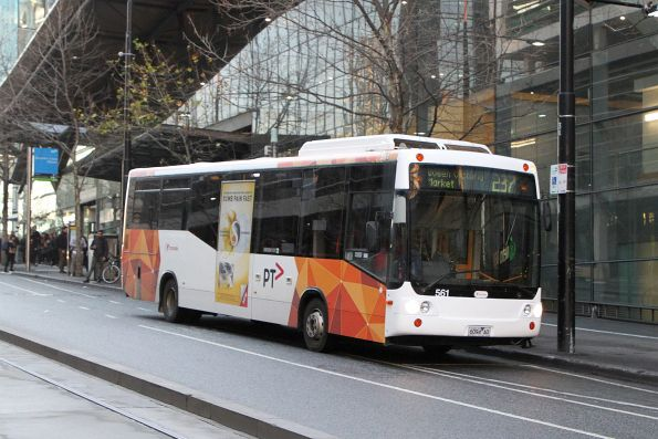 Transdev bus #561 6094AO heads east on route 237 at Collins and Spencer Street