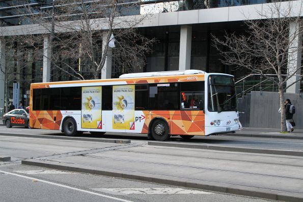 Transdev bus #379 heads west on route 232 at Southern Cross Station