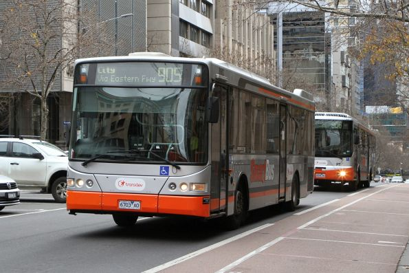 Transdev bus #8903 6703AO heads west on route 905 at Lonsdale and William Street