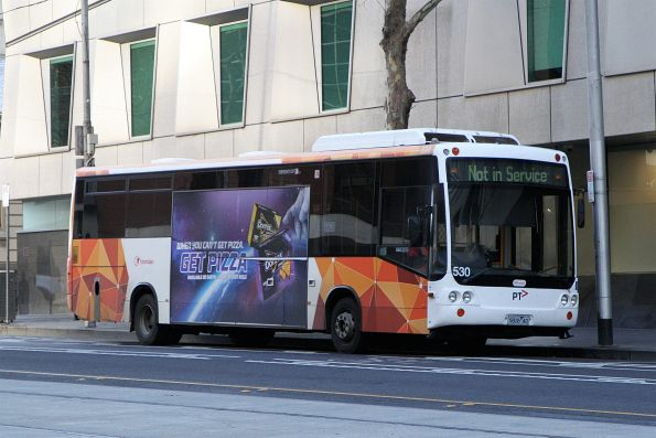 Transdev bus #530 5826AO out of service at William and Lonsdale Street