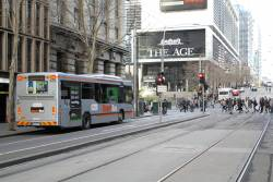 Transdev bus #938 7931AO 6034 heads west on route 237 at Collins and Spencer Street