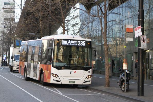 Transdev bus BS03WJ on route 235 at Southern Cross Station
