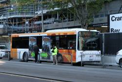 Transdev bus #368 0368AO on route 216 stuck in traffic at Spencer and Lonsdale Street