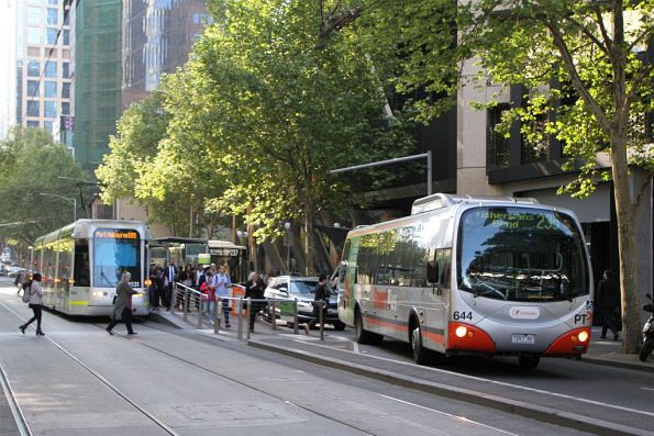 Smartbus liveried Transdev #644 7267AO on route 235 at Collins and Spencer Street